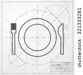 vector classic blueprint of... | Shutterstock .eps vector #321333281