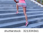 sport outdoor. beautiful girl... | Shutterstock . vector #321334361
