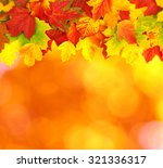 fall  autumn  leaves background.... | Shutterstock . vector #321336317