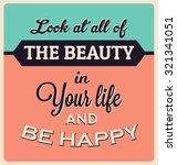 retro typographic poster design ... | Shutterstock .eps vector #321341051
