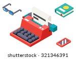 isometric 3d retro vintage... | Shutterstock .eps vector #321346391