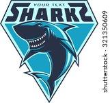 sharks logo | Shutterstock .eps vector #321350609