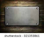 metal   on old wooden... | Shutterstock . vector #321353861