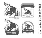 bull for logo  american... | Shutterstock . vector #321357401