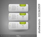 vector business stickers... | Shutterstock .eps vector #321363509