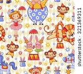 seamless kids circus ... | Shutterstock .eps vector #321369311