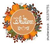 autumn wreath of rowan berries  ... | Shutterstock .eps vector #321370751