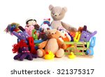 pile of toys isolated on white | Shutterstock . vector #321375317