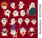 vintage halloween poster design ... | Shutterstock .eps vector #321375581