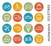 transport line icons | Shutterstock .eps vector #321377855