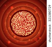 Holidays greeting card with a calligraphic lettering. Merry christmas - stock photo