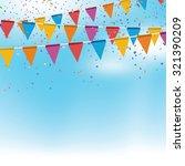 vector festive banners on blue... | Shutterstock .eps vector #321390209