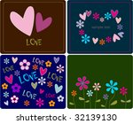 collection love cards | Shutterstock .eps vector #32139130