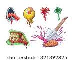 zombie parts set. zombie... | Shutterstock .eps vector #321392825