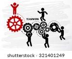 teamwork graphic vector design | Shutterstock .eps vector #321401249