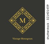 vintage monogram. vector emblem ... | Shutterstock .eps vector #321401459