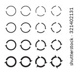 set of black circle vector... | Shutterstock .eps vector #321402131