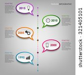 time line info graphic with... | Shutterstock .eps vector #321405101