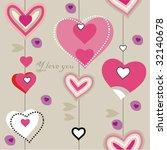 closeup heart pattern   Shutterstock .eps vector #32140678