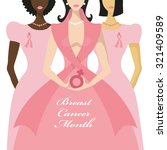 breast cancer awareness.three... | Shutterstock .eps vector #321409589