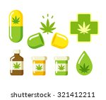 medical marijuana icons  pills  ... | Shutterstock .eps vector #321412211