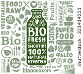 bio energy drink packaging... | Shutterstock .eps vector #321414221