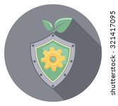 shield and leaf flat icon in... | Shutterstock .eps vector #321417095