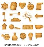 set of empty bookshelves in the ...   Shutterstock . vector #321422324