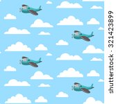 seamless baby pattern with... | Shutterstock .eps vector #321423899