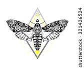 detailed dead head moth in... | Shutterstock .eps vector #321426524