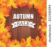 autumn sale. vector typography... | Shutterstock .eps vector #321430394