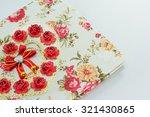 wedding book with rose... | Shutterstock . vector #321430865