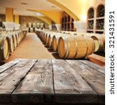 blurred interior of barrels... | Shutterstock . vector #321431591