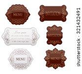 vintage frame set. calligraphic ...   Shutterstock .eps vector #321432491