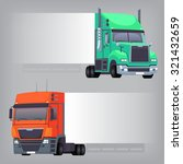 trucks with non dimensional... | Shutterstock .eps vector #321432659