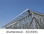 Steel Frame Construction - stock photo