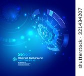 technology futuristic digital... | Shutterstock .eps vector #321434207