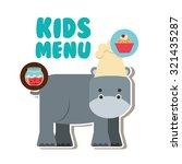 kids menu design  vector... | Shutterstock .eps vector #321435287