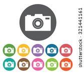 camera icon  hotel set. vector... | Shutterstock .eps vector #321441161