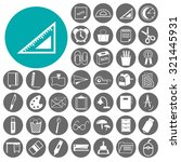 business and office icons set.... | Shutterstock .eps vector #321445931