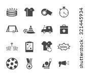 soccer football icons set.... | Shutterstock .eps vector #321445934