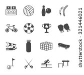 sports icons set3. vector... | Shutterstock .eps vector #321446021