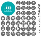 chemistry and science icons set.... | Shutterstock .eps vector #321446081