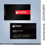 business card template. red and ... | Shutterstock .eps vector #321451895