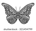 zentangle stylized butterfly....