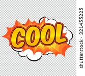 speech bubble and explosion in... | Shutterstock .eps vector #321455225
