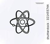 atom sign vector icon | Shutterstock .eps vector #321455744