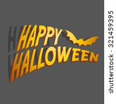 happy halloween | Shutterstock .eps vector #321459395