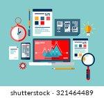 seo optimization icons set ... | Shutterstock .eps vector #321464489
