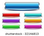 seven glossy buttons. vector. | Shutterstock .eps vector #32146813